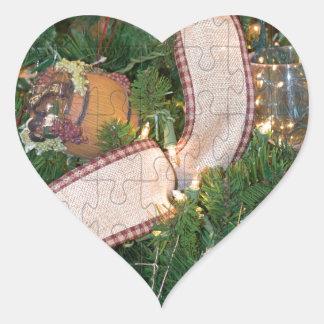 Ocasión decorativa del vino pegatina en forma de corazón