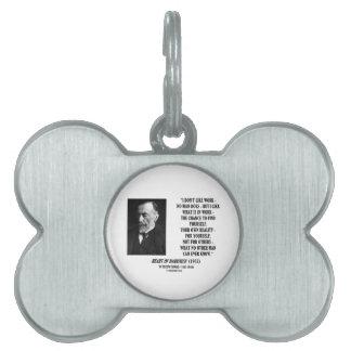 Ocasión del trabajo de Joseph Conrad su propia cit Placa De Nombre De Mascota