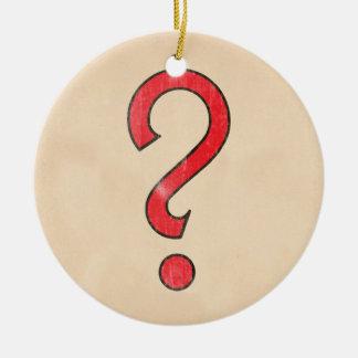 Ocasión del vintage - rojo adorno navideño redondo de cerámica