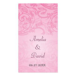 Ocasión especial Placecard del Flourish rosado Tarjetas De Negocios