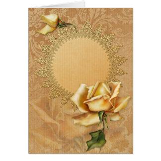 Ocasiones especiales del rosa amarillo de Jaguarwo Felicitaciones