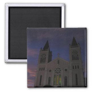 Ocaso de la catedral de Baguio @ Imán Cuadrado