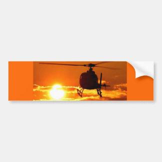 ocaso del helicóptero pegatina para auto