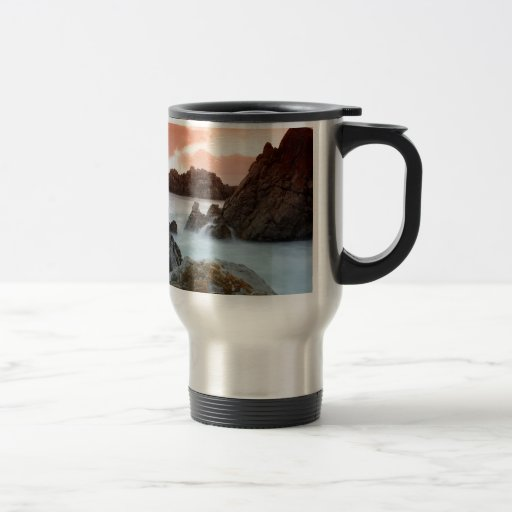 Ocaso surrealista Suráfrica del agua Taza De Café