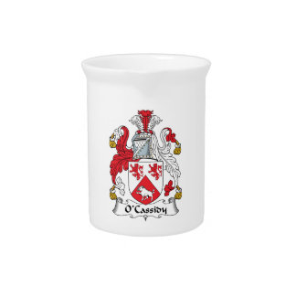 O'Cassidy Family Crest Drink Pitchers
