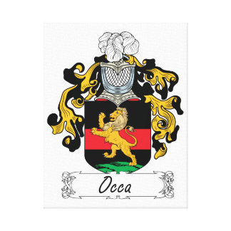 Occa Family Crest Gallery Wrapped Canvas