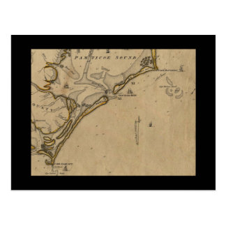 Occacoke Inlet Ship Map Postcard