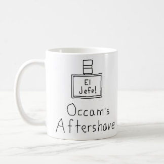 Occam's aftershave classic white coffee mug