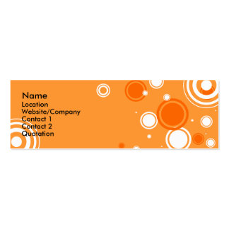 Occasional Spots 2.0 Double-Sided Mini Business Cards (Pack Of 20)