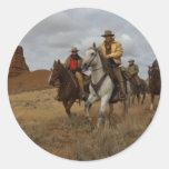 Occidental Pegatinas Redondas