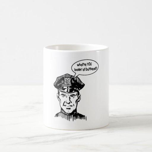 Occifer triste taza básica blanca