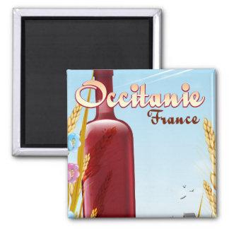 Occitanie France farming landscape poster Magnet
