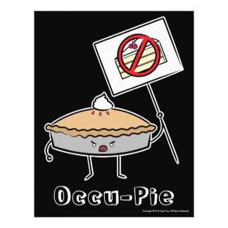 "Occu-Empanada (valor ""poster"", negro) Folleto 8.5"" X 11"""