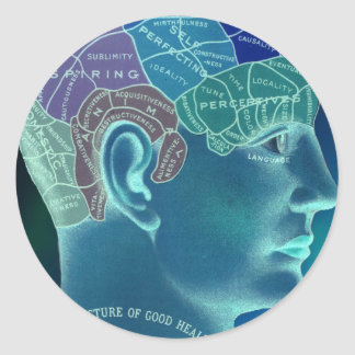 Occult Collection - Phrenology Classic Round Sticker