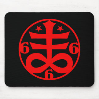 Occult Goth Satanic Cross Symbol Mouse Pad