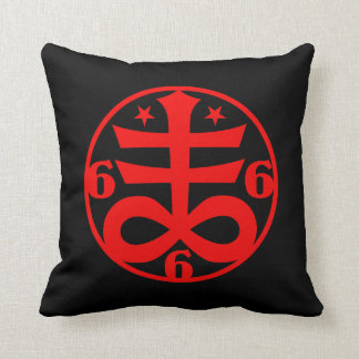 Occult Goth Satanic Cross Symbol Throw Pillow