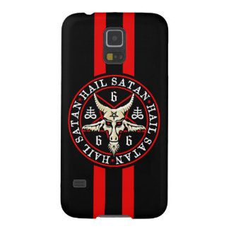 Occult Hail Satan Baphomet Goat in Pentagram Cases For Galaxy S5