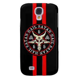 Occult Hail Satan Baphomet Goat in Pentagram Samsung Galaxy S4 Cover