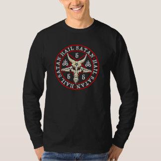 Occult Hail Satan Baphomet in Pentagram T-shirt