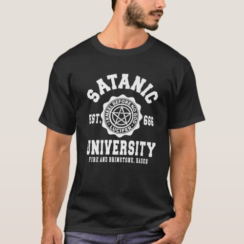 Occult Satanism Witchcraft Horror Gothic Satanic T_Shirt