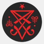 Occult Sigil of Lucifer Satanic Classic Round Sticker