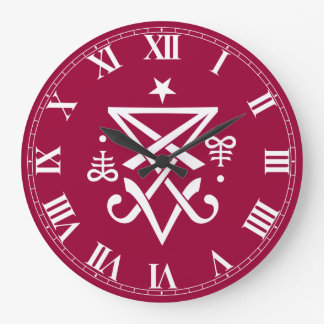 Occult Sigil of Lucifer Satanic Large Clock
