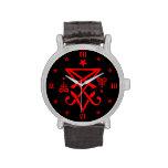 Occult Sigil of Lucifer Satanic Wristwatch