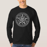 Occult Witchcraft Mirror Writing Pentacle T-Shirt