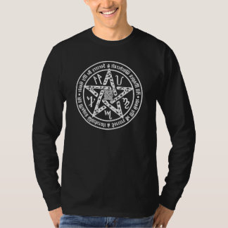 Occult Witchcraft Mirror Writing Pentacle Tee Shirt