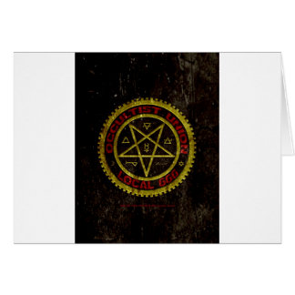 OCCULTIST UNION LOCAL 666    019 GREETING CARD