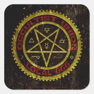 OCCULTIST UNION LOCAL 666    019 SQUARE STICKER