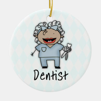 Occupation Dentist Professional Female Christmas Tree Ornament