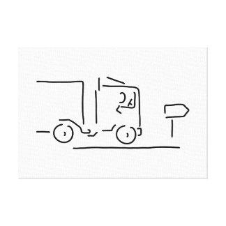 occupation motorist of brummifahrer trucks canvas print