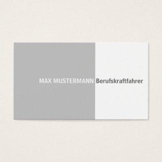 Occupation motorist visiting card