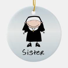 Occupation Nun Religious Vocation  Personalized Ceramic Ornament at Zazzle