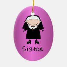 Occupation Nun Religious Vocation  Personalized Ceramic Ornament at Zazzle