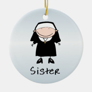 Occupation Nun Religious Vocation  Personalized Double-Sided Ceramic Round Christmas Ornament