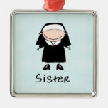 Occupation Nun Religious Vocation  Personalized Square Metal Christmas Ornament
