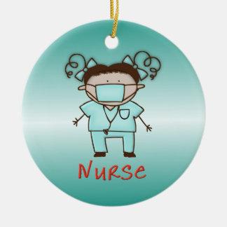 Occupation Nurse Custom Personalized Date and Name Ceramic Ornament