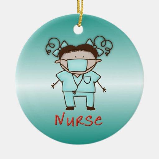 Occupation nurse custom personalized christmas tree for Custom christmas tree ornaments