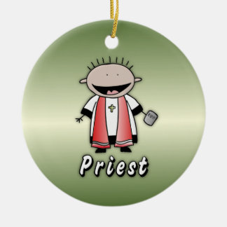 Occupation Priest Religious Clergy  Personalized Ceramic Ornament