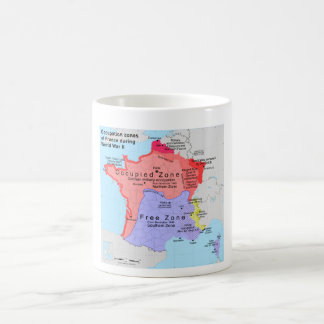 Occupation Zones of France During World War II Mugs