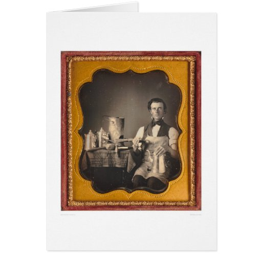 Occupational portrait of a tinsmith... (40027) card