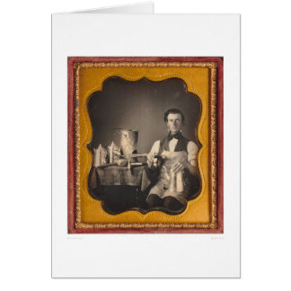Occupational portrait of a tinsmith... (40027) greeting card