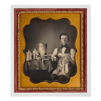 Occupational portrait of a tinsmith... (40027) print