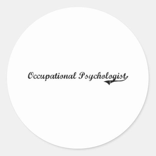 Occupational Psychologist Professional Job Round Stickers