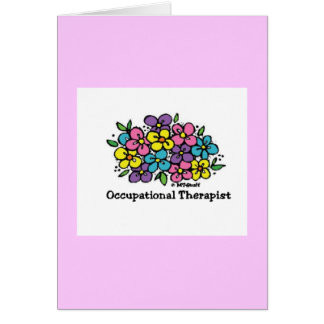 Occupational Therapist Blooms 1 Card
