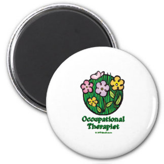 Occupational Therapist Blooms 2 2 Inch Round Magnet