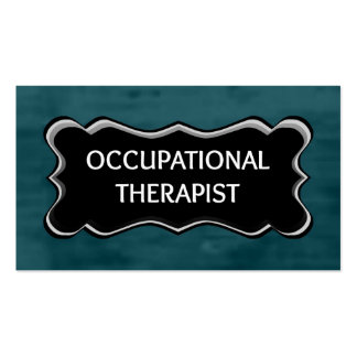 Occupational Therapist Elegant Name Plate Double-Sided Standard Business Cards (Pack Of 100)