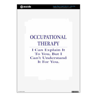 Occupational Therapist .. Explain Not Understand Decal For iPad 3